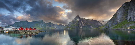 Panorama das ilhas de Lofoten Fotografia de Stock
