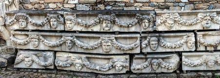 Panorama das máscaras gregas Fotos de Stock