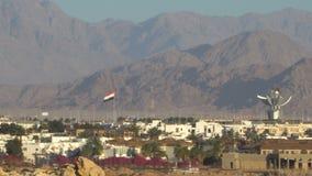 Panorama das montanhas do deserto Egypt video estoque