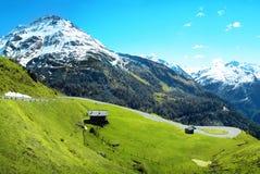 Panorama das montanhas dos alpes Imagens de Stock Royalty Free
