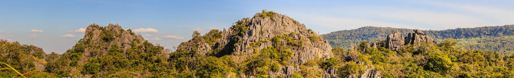 Panorama das montanhas, Suan Hin Pha Ngam, aka Kunming de Loei na província de Loei tailândia fotos de stock