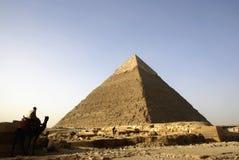 Panorama das pirâmides de Giza do Cairo, Egipto Imagens de Stock