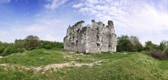 Panorama das ruínas do castelo Foto de Stock