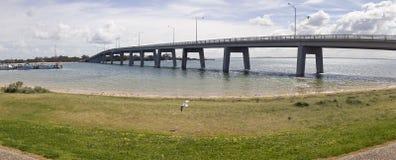 Panorama dat van brug tot Phillip Island leidt Royalty-vrije Stock Afbeeldingen