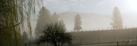 Panorama at dawn Stock Photography
