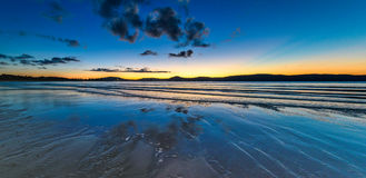 Panorama Daybreak Seascape. Taken at Umina Point, Umina, NSW, Australia Stock Photo