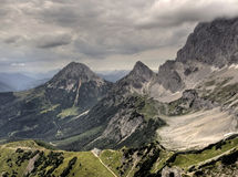 Panorama de Áustria Dachstein Fotografia de Stock Royalty Free