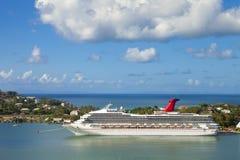 panorama de 180 grados de St Lucia Imágenes de archivo libres de regalías