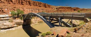 Panorama de acero del puente Foto de archivo