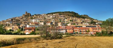 Panorama de Aibar Imagen de archivo libre de regalías