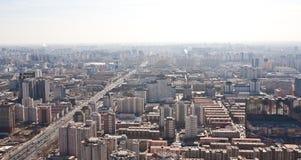 Panorama de Airview do Pequim, China Fotos de Stock Royalty Free