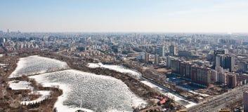 Panorama de Airview do Pequim, China Imagem de Stock Royalty Free
