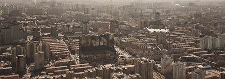 Panorama de Airview do Pequim, China Imagens de Stock Royalty Free