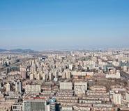 Panorama de Airview do Pequim, China Foto de Stock