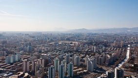 Panorama de Airview do Pequim, China Fotos de Stock