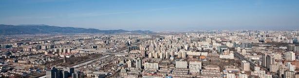 Panorama de Airview do Pequim, China Fotografia de Stock Royalty Free