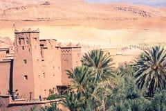 Panorama de Ait Ben Haddou Casbah perto da cidade de Ouarzazate em Morocc Fotos de Stock Royalty Free