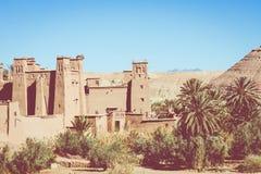 Panorama de Ait Ben Haddou Casbah perto da cidade de Ouarzazate em Morocc Imagem de Stock Royalty Free
