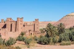 Panorama de Ait Ben Haddou Casbah perto da cidade de Ouarzazate em Morocc Imagem de Stock