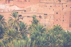 Panorama de Ait Ben Haddou Casbah perto da cidade de Ouarzazate em Morocc Imagens de Stock
