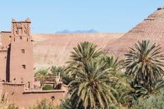 Panorama de Ait Ben Haddou Casbah perto da cidade de Ouarzazate em Morocc Fotos de Stock