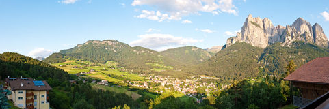 Panorama de Alpe di Siusi Fotografía de archivo