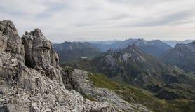 Panorama in de Alpen royalty-vrije stock afbeelding