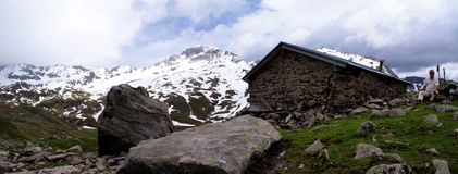 Panorama in de Alpen Stubai in Zuid-Tirol Royalty-vrije Stock Afbeeldingen