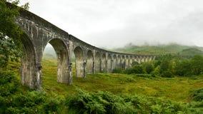 Panorama de alta resolución del viaducto del ferrocarril de Glenfinnan fotografía de archivo libre de regalías