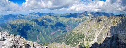 Panorama de alto Tatras imágenes de archivo libres de regalías