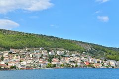 Panorama de Amfilochia Foto de archivo