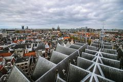 Panorama de Amsterdão da catedral foto de stock royalty free