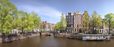 Panorama de Amsterdam Imagen de archivo