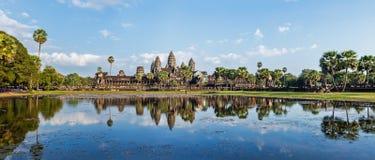 Panorama de Angkor Wat fotos de archivo libres de regalías