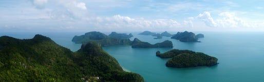 Panorama de Angthong NP, Tailandia Imagen de archivo