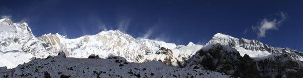 Panorama de Annapurna Fotos de archivo libres de regalías