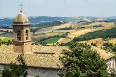 Panorama de Arcevia Imagen de archivo libre de regalías