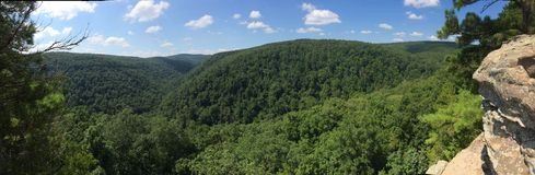 Panorama de Arkansas Rolling Hills Fotografía de archivo
