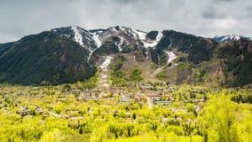 Panorama de Aspen famoso, Colorado almacen de video
