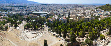 Panorama de Atenas foto de stock royalty free