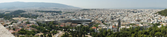 Panorama de Atenas Fotos de Stock Royalty Free