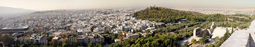 Panorama de Atenas em Grécia Fotos de Stock Royalty Free