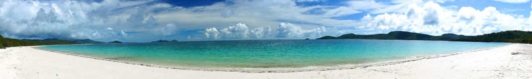 Panorama de Australia de la playa de Whitehaven Imágenes de archivo libres de regalías