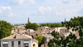 Panorama de Aviñón, al sur de Francia metrajes