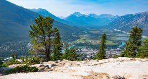 Panorama de Baff dans Alberta Image libre de droits