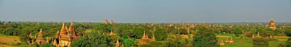 Panorama de Bagan imagens de stock