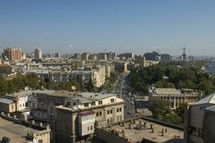 Panorama de Bakou. Photographie stock libre de droits