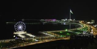 Panorama de Bakou avec Highland Park Images libres de droits