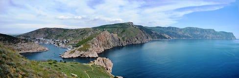 Panorama de Balaklava et de cap Fiolent Images libres de droits