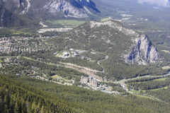 Panorama de Banff do túnel Mt Imagem de Stock Royalty Free